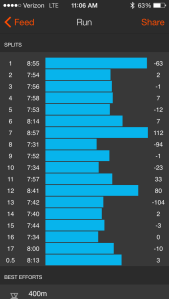 Hudson River Greenway Mile Splits