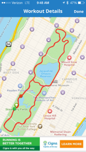 15 mile run path