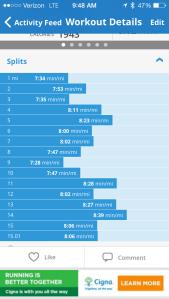 15 mile run splits