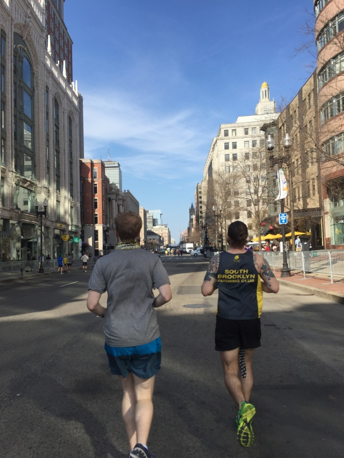 Boston Marathon Shakeout Boylston